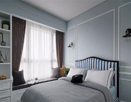 卧室飘窗美式装饰实景图