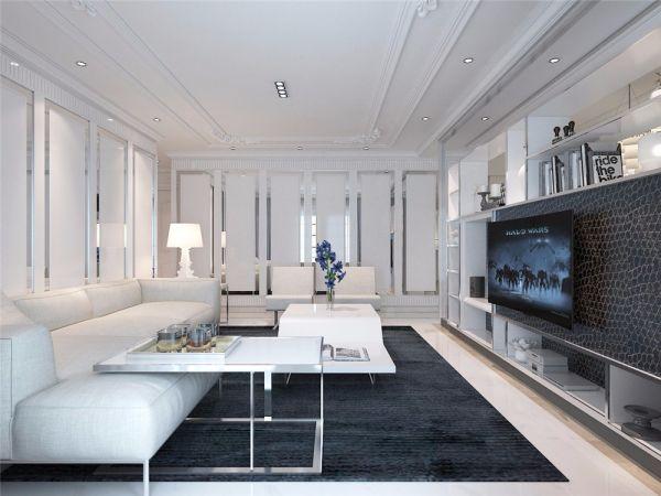 欧式风格145平米三室两厅新房装修效果图