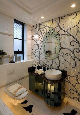 136平米欧式古典风格三居室装修效果图
