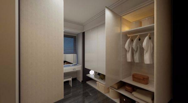 卧室米色衣柜现代风格装修图片