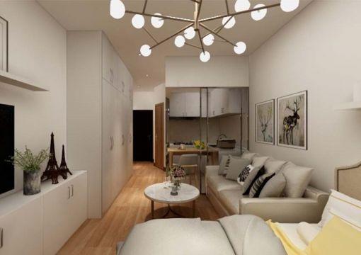 简约风格44平米一居室新房装修效果图