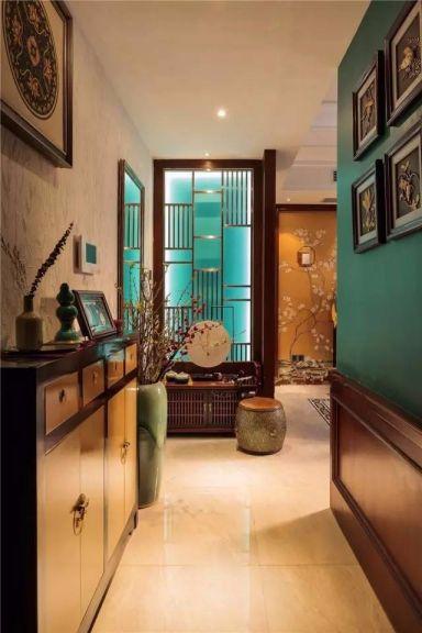 玄关彩色走廊混搭风格装修设计图片