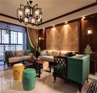 客厅白色沙发混搭风格装饰效果图