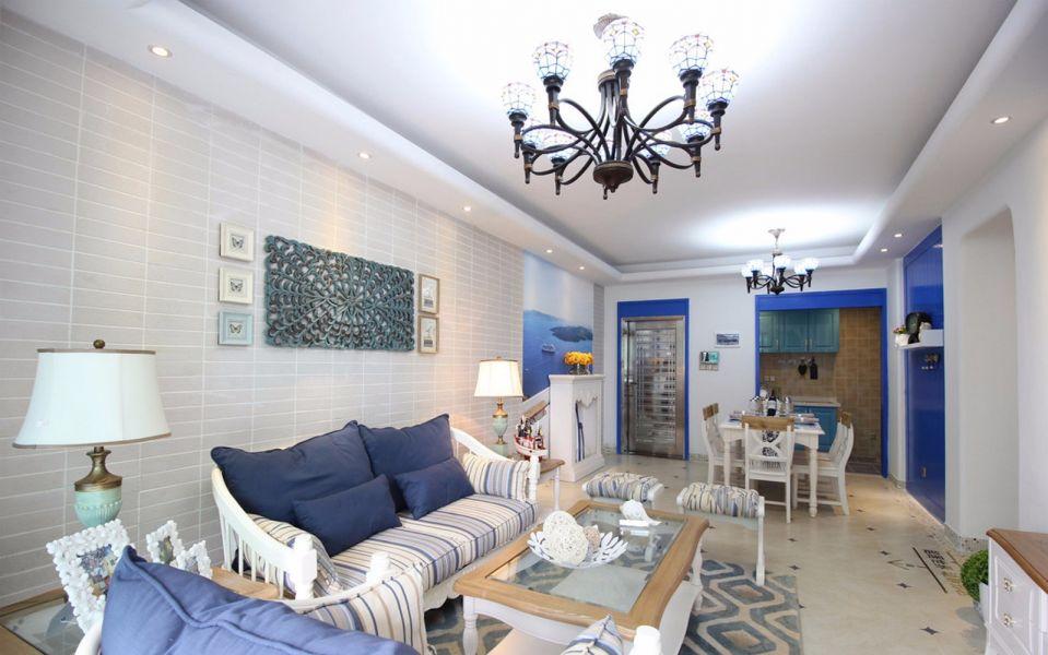 写意客厅地中海装修案例效果图