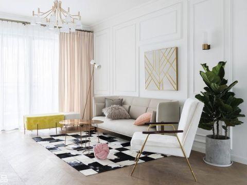 116方法式风格三居室装修效果图