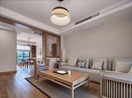 日式风格90平米三房两厅新房装修效果图