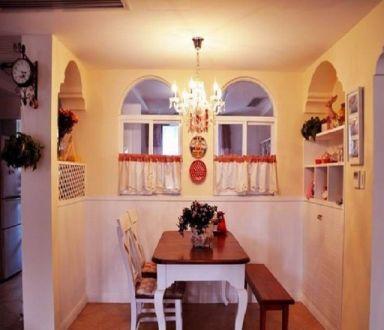 餐厅田园风格装修设计图片