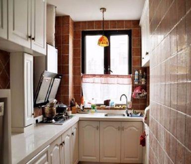厨房吊顶田园风格装饰设计图片