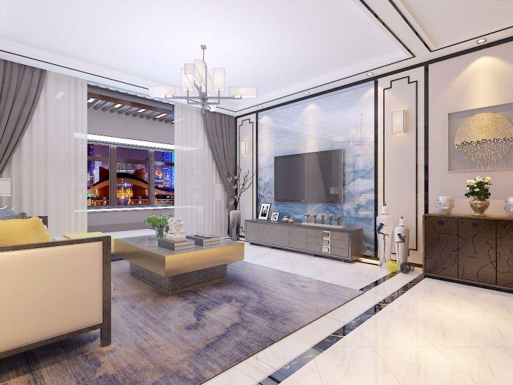 120平米三居室新中式装修风格