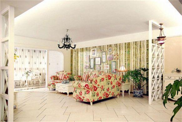 75平米田园风格两居室装修效果图