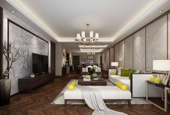 新中式风格135平米四房两厅新房装修效果图