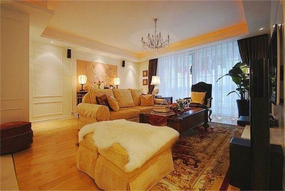 欧式风格147平米三室两厅新房装修效果图
