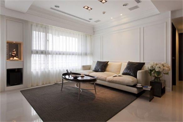 现代客厅背景墙装潢实景图片