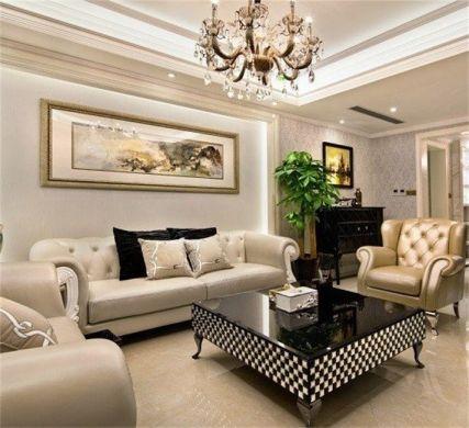 新古典风格133平米三室两厅室内装修效果图