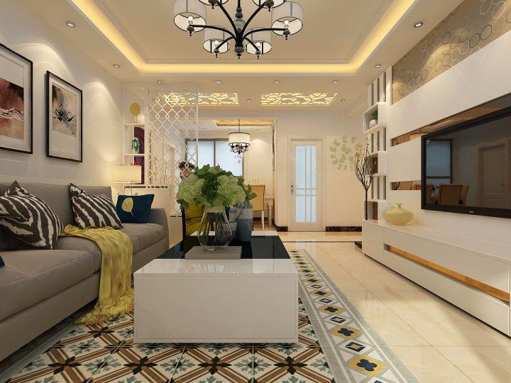 现代风格90平米跃层室内装修效果图