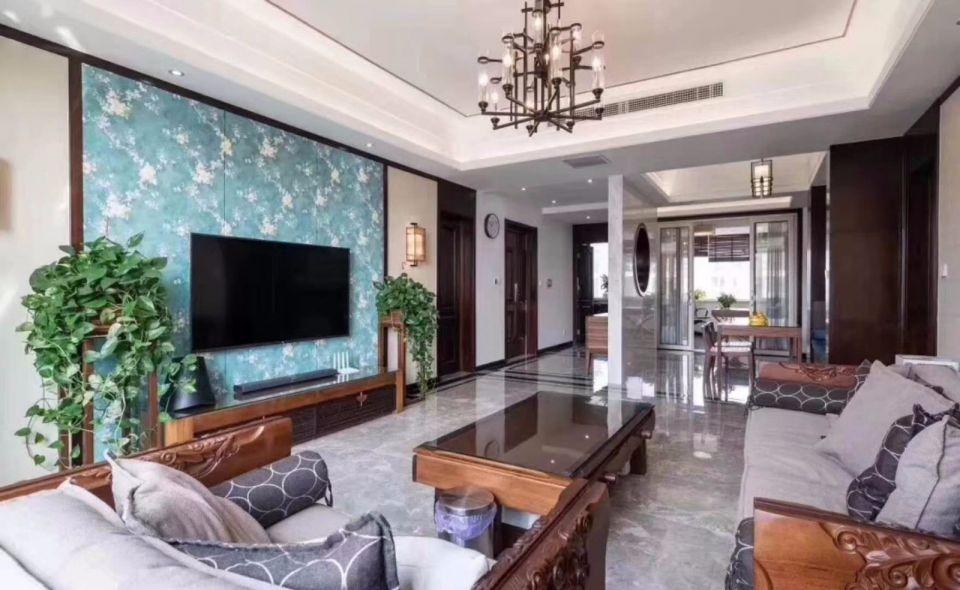新中式风格150平米两室一厅室内装修效果图