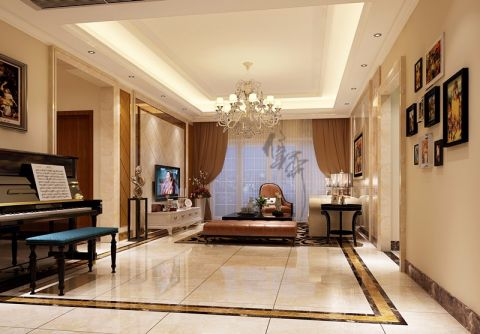 现代简约风格200平米套房新房装修效果图
