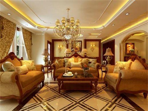 欧式风格147平米三房两厅新房装修效果图