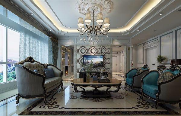法式风格127平米三房两厅新房装修效果图