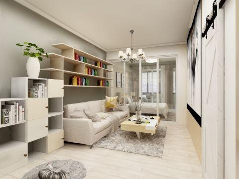 简约风格43平米一室两厅室内装修效果图