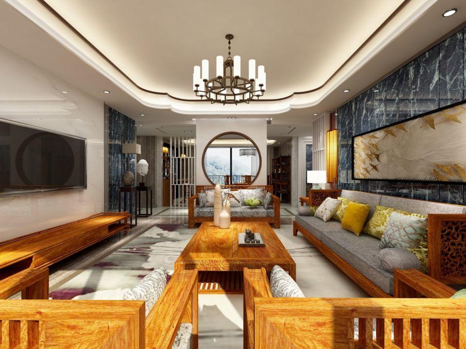 2021中式150平米效果图 2021中式别墅装饰设计