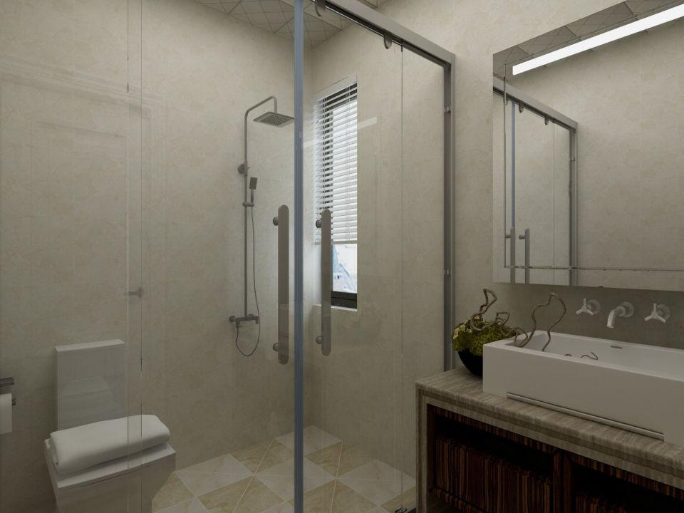 卫生间白色背景墙欧式风格装修设计图片