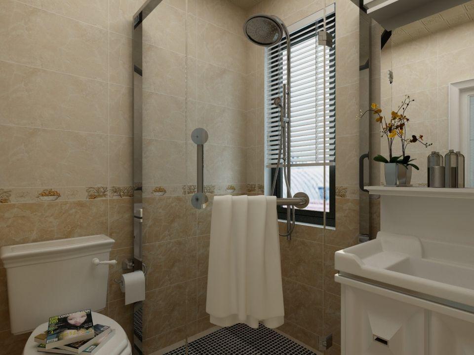 卫生间米色背景墙欧式风格装修效果图