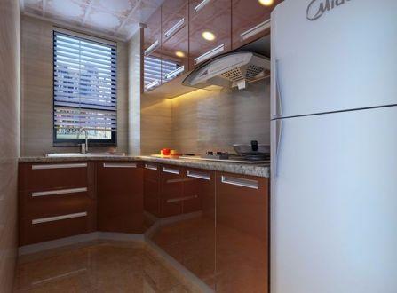 厨房咖啡色橱柜现代风格装修效果图