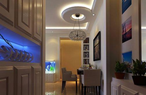 纯净现代白色吊顶设计效果图