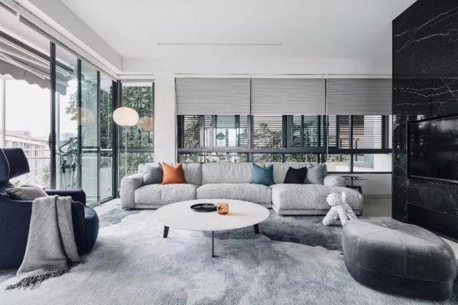 客厅白色茶几现代风格装修效果图