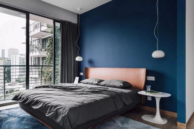 现代卧室背景墙装饰设计