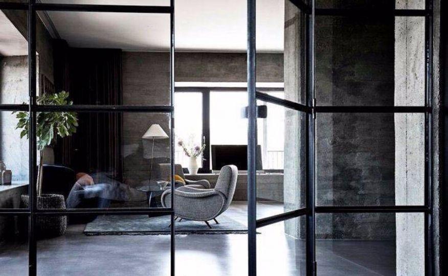 客厅灰色地砖北欧风格效果图