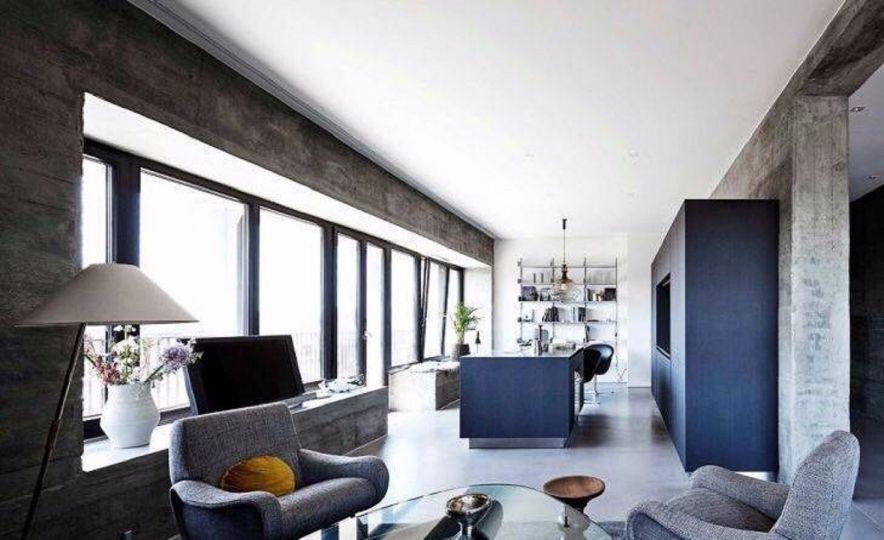厨房蓝色厨房岛台北欧风格装修效果图