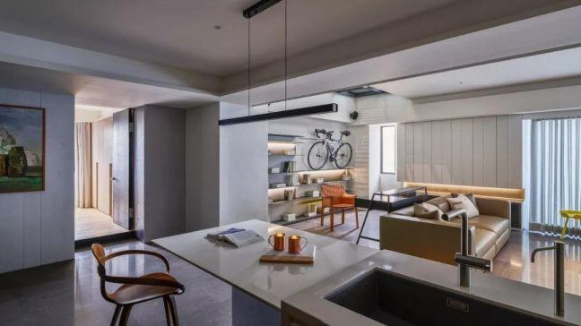 厨房白色吧台现代简约风格装饰图片