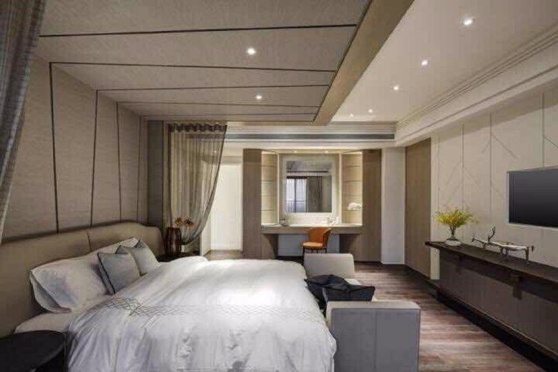 卧室灰色床混搭风格效果图