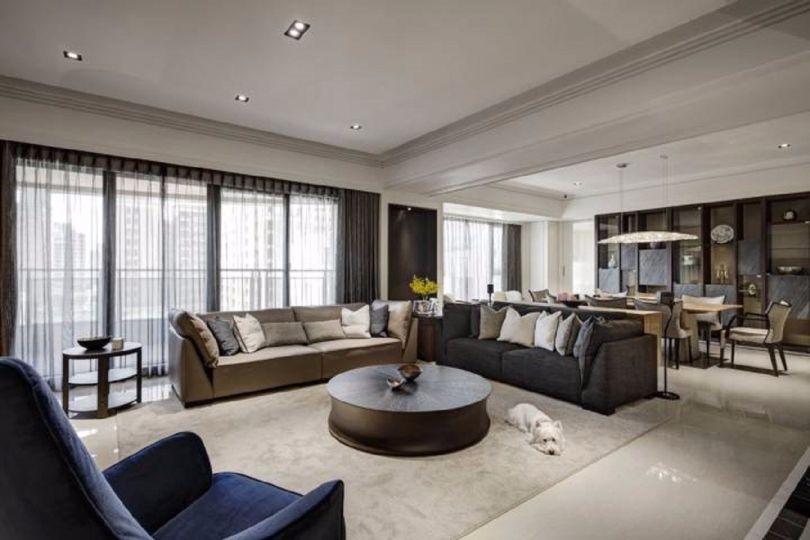 客厅彩色细节混搭风格装潢效果图