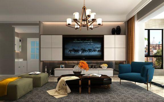 现代简约风格170平米四房两厅新房装修效果图