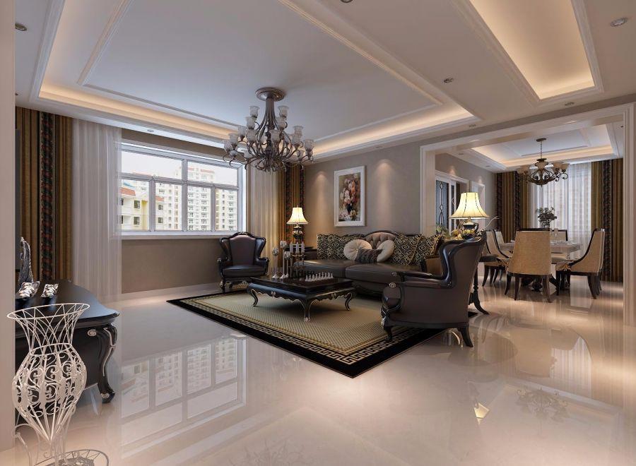 """而简欧风格继承了传统欧式风格的装饰特点,吸取了其风格的""""形神""""特征,在设计上追求空间变化的连续性和形体变化的层次感,室内多采用带有图案的壁纸、地毯、窗帘、床罩、帐幔及古典装饰画,体现华丽的风格。家具门窗多漆为白色,画框的线条部位装饰为线条或金边,在造型设计上既要突出凹凸感,又要有优美的弧线。"""