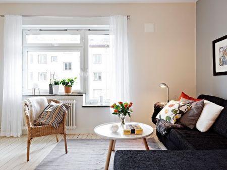 北欧风格63平米小户型厅新房装修效果图
