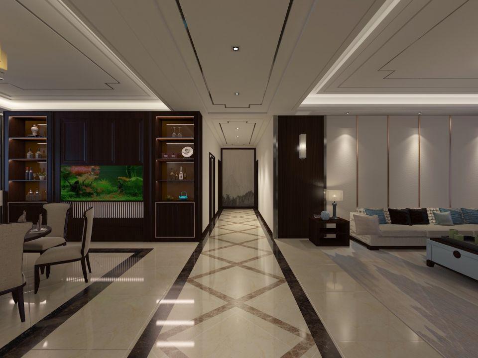 165平新中式楼房装修效果图
