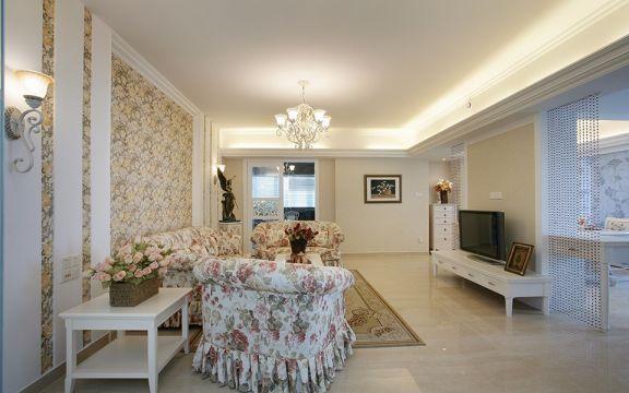 田园风格110平米3房2厅房子装饰效果图