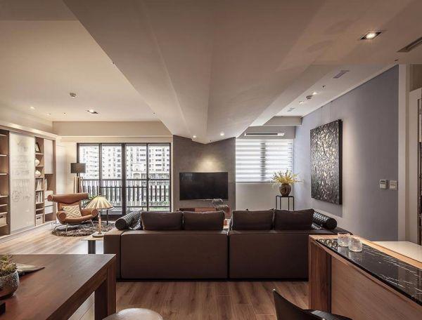 现代简约风格57平米2房2厅房子装饰效果图