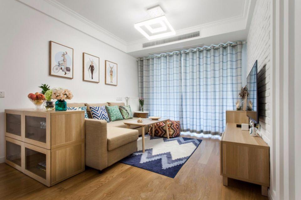 混搭風格100平米3房2廳房子裝飾效果圖