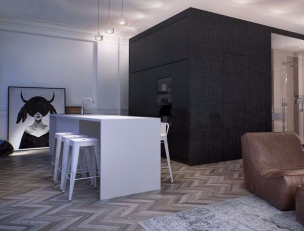 现代简约风格309平米3房4厅房子装饰效果图