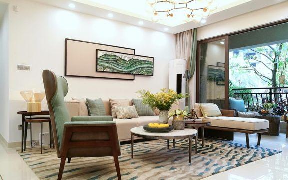 现代简约风格68平米2房2厅房子装饰效果图