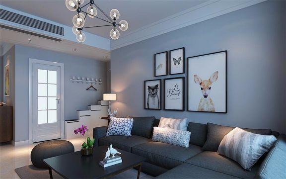 现代简约风格112平米小户型新房装修效果图