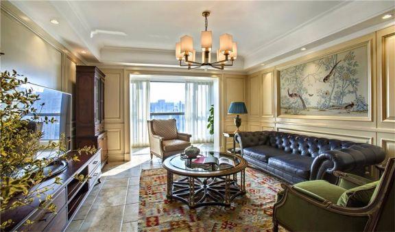 美式风格126平米大户型新房装修效果图