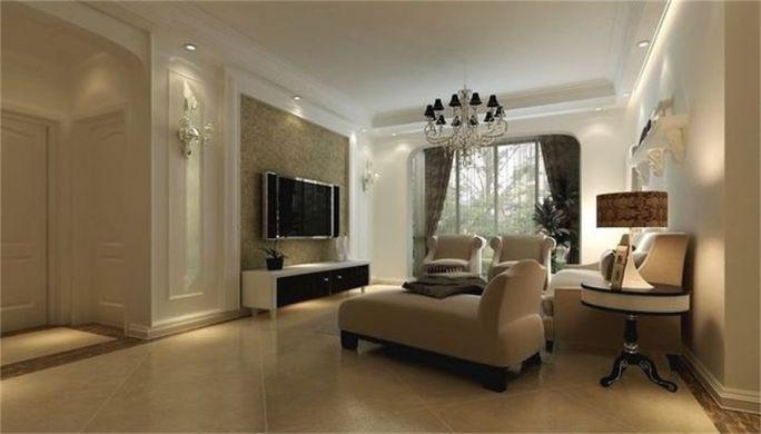现代简约风格87平米两室两厅新房装修效果图