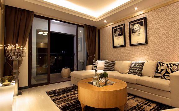 现代风格113平米三室两厅新房装修效果图