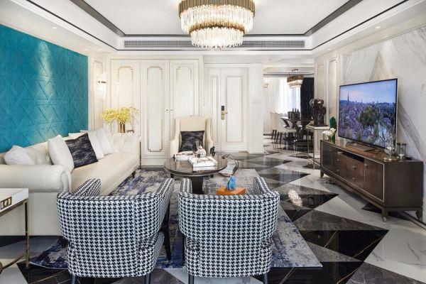 混搭风格180平米三室两厅新房装修效果图